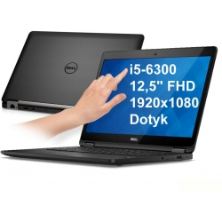 Dell Latitude 7280 i5-6300u 8GB 256SSD 12,5 FHD 1920x1080 dotyk WiFi BT KAM klaw.PL Win10pro Gw12mc